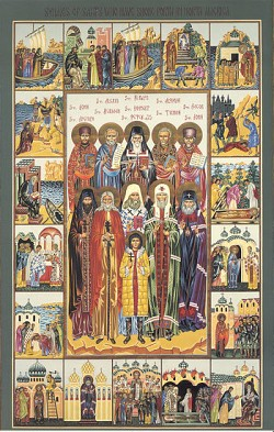 Icon of All Saints of North America